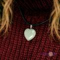 """Кулон підвіска на шию """"Нефритове серце"""" світло зелений"""