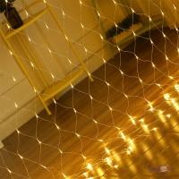 Новорічна світлодіодна гірлянда сітка Xmas Net WW 180 LED ламп теплий білий 1.9х1.6 м