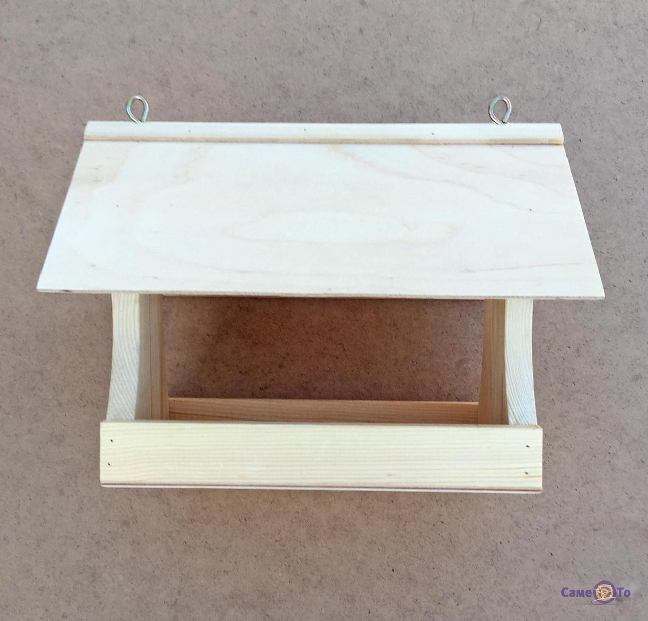 Скворечник из дерева, деревянная кормушка для птиц,