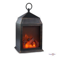 Лампа нічник Затишок каміна - це світильник нічник з імітацією вогню