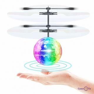 Літаюча куля Induction Crystal Ball іграшка з сенсором яка світиться, вертоліт USB