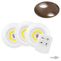 Лед світильники з пультом LED light with Remote Control set точковий світильник на батарейках