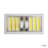 Світильник світлодіодний Лофт LED подвійний з кнопками включення на батарейках