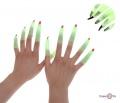 Пальці відьми з когтями люмінісцентні для Хэллоуина | нігті на Хелловін