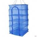 Сітка сушарка риби, фруктів, ягід на 5 секцій Синя, 50х50х100 см
