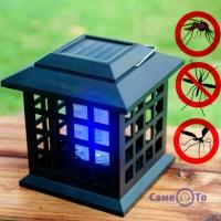 Лампа від комах вулична Solar Monster Zapper 2 в 1, ліхтар від комарів на сонячній батареї