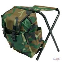 Розкладний туристичний стілець рюкзак 35х34см Хакі