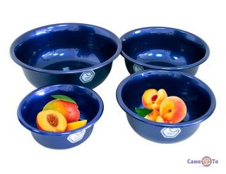 Пластикові миски Народний продукт 4 шт сині