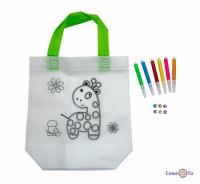 Дитяча сумка розмальовка 24х10х22 см з принтом жирафа (Z07)