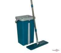 Швабра з відром з віджимом Scratch Mop синьо-сіре 39х23х19 см