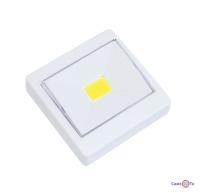 Світильник вимикач на батарейках 8.7х8.7 см. Білий HY-801