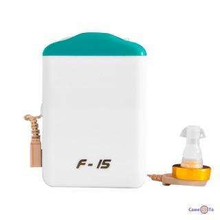 """Аксон """"F-15"""" кишеньковий слуховий апарат, підсилювач слуху внутрішньовушний на акумуляторі"""