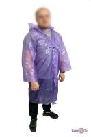 Плащ дощовик на кнопках фіолетовий 60мкм 107х72 см