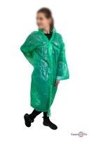 Дощовик плащ на кнопках зелений 60 мкм 107х73 см