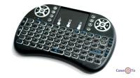 Міні клавіатура з тачпадом бездротова - блютуз клавіатура з підсвіткою MWK08/i8 LED
