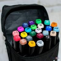 Набір скетч маркерів для малювання Touch Coco 24 PCS (чорний корпус)