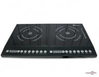 Індукційна плита Domotec MS-5862 Black електрична настільна двохкамфорна