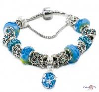 Жіночий срібний браслет в стилі Пандора