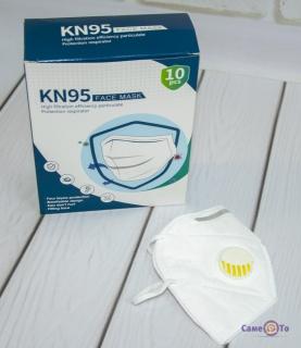 Захисні маски з вугільним фільтром (10 шт./уп.) KN95