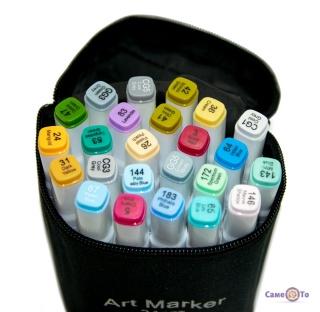 Набір маркерів Thiscolor (24 шт./уп., білі) кольорові двосторонні маркери для малювання