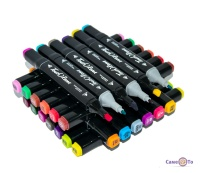 Набір скетч маркерів для малювання Touch Raven 48 PCS (чорний корпус)