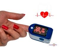 Пульсоксиметр на палець LK87 для вимірювання пульсу і кисню в крові