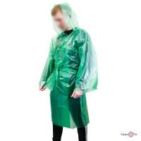 Супер щільний дощовик чоловічий під пояс, зелений плащ дощовик туристичний