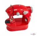 Маленька портативна швейна машинка червона