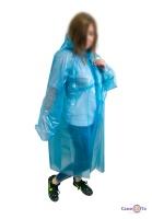 Дощовик туристичний на липучках 60мкм синій 107*80 см