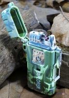 Плазмова електрична USB запальничка Classic Fashionable, Хакі