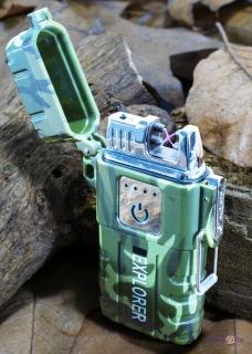 Импульсная плазменная электродуговая зажигалка Classic Fashionable, Хаки
