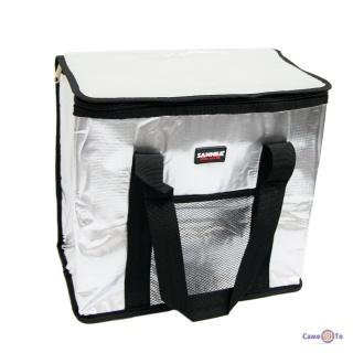 Переносна ізотермічна сумка холодильник (25 л) Sannea Cooler Bag, чорна термосумка