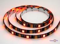 Світлодіодна стрічка з пультом RGB 5050 чорна на 2 метри