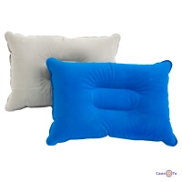 Надувна подушка в дорогу однотонна, дорожня подушка туристична 34х24 см