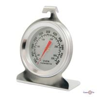 Внутрішній термометр для духовки газової - сріблястий, градусник в духовку та для печі