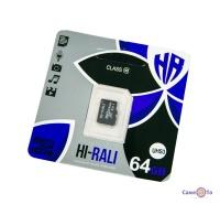 Карта пам'яті для фотоапарата HI-RALI 64 GB class 10