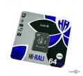 Мікро сд карта пам'яті HI-RALI 64 гб з адаптером, class 10