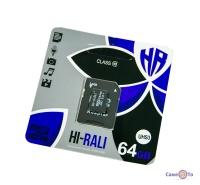 Мікро сд карта пам'яті HI-RALI 64 гб з адаптером, class 10 (micro CD)