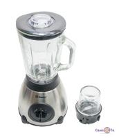 Стаціонарний блендер з кавомолкою та чашею 2в1 для смузі і коктейлів Domotec MS-6609