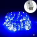 Гірлянда новорічна на вулицю (дюралайт від USB, 100 LED 9 м, синя, прозора)