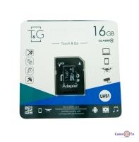 Micro sd карта пам'яті TG 16 GB class 10 з адаптером