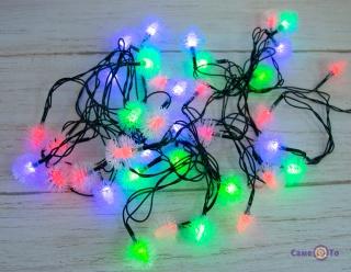 """Світлодіодна новорічна гірлянда 6 м Xmas 40P T2 """"Сніжинки"""""""