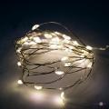 """Гірлянда світлодіодна нитка на батарейках 30 LED - 3м """"LED copper Крапля роси"""" Теплий білий"""