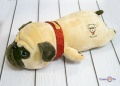 Плюшева іграшка-подушка собака мопс бежева 40х21х12 см