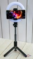 Штатив - монопод з кільцевою лед лампою для телефону Selfie Stick L07 16 см