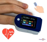 Пульсоксиметр на палець для вимірювання пульсу і сатурації Oxiometer 2-AB-88