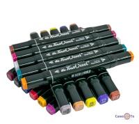 Набір двосторонні фломастери для художників Touch Cool 48 шт./Уп. чорний корпус