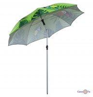 Парасолька пляжна з нахилом - велика парасоля від сонця (з папугами), 2 м