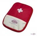 Дорожня аптечка органайзер - червона кишенькова аптечка (13х18 см)