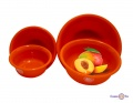 Набір пластикових мисок для кухні Народний продукт 4 шт помаранчеві